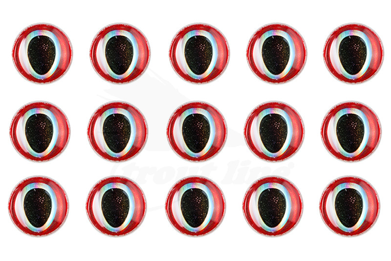 Troutline Realistic 30 pcs 4mm 3D Epoxy Eyes
