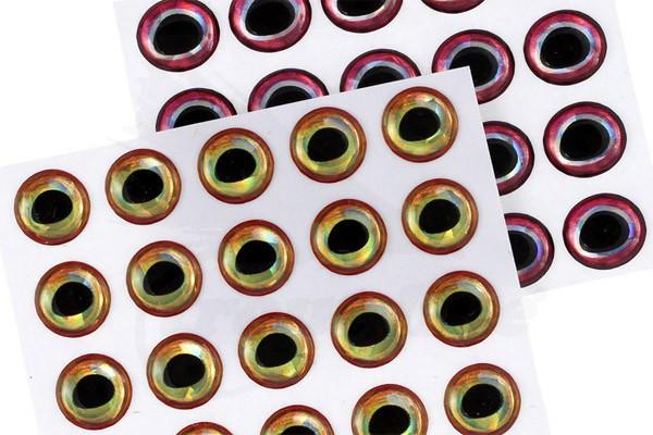 Troutline Realistic 30 pcs 5mm 3D Epoxy Eyes