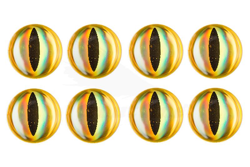 Troutline Realistic 3D Snake Eyes 8mm - 20pcs